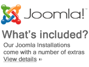 Our JOOMLA! installations incluce many commercial extensions...